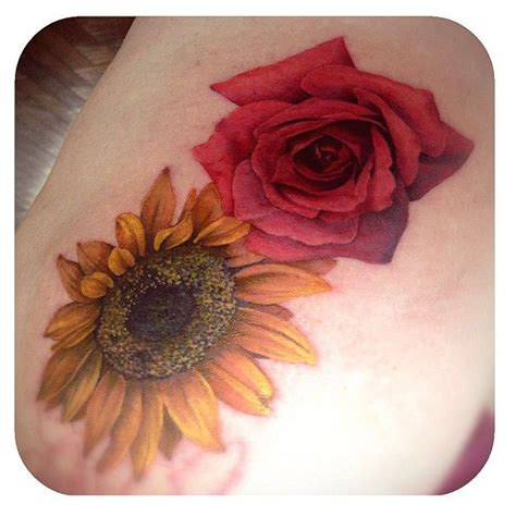 sunflower rose tattoo 1000 ideas about sunflowers and roses on