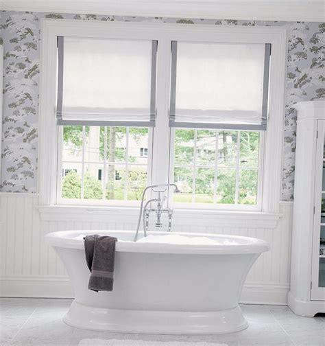 modern interior bathroom window treatments roman shades for modern kitchens and bathrooms decorating