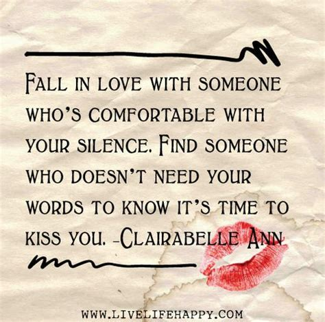how to be comfortable with silence fall in love with someone who s comfortable with your