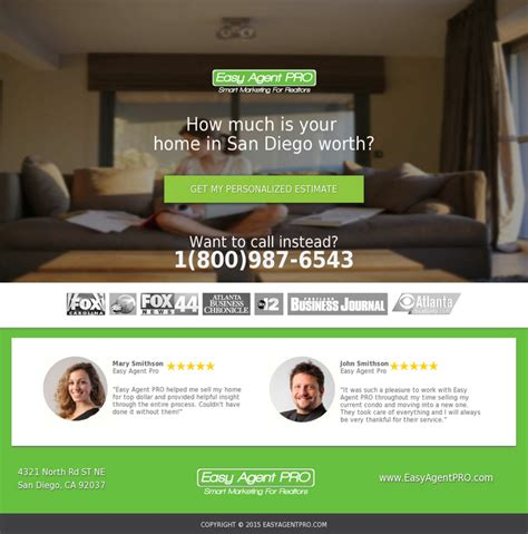 Landing Page Design The Best Real Estate Landing Pages by Marketplace 5 Real Estate Templates For Building High