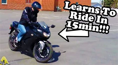 how to ride a motocross first time riding a motorcycle ninja 250 youtube