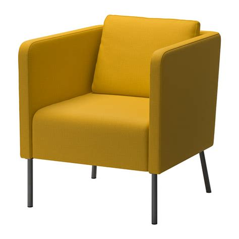 eker 214 armchair skiftebo yellow ikea
