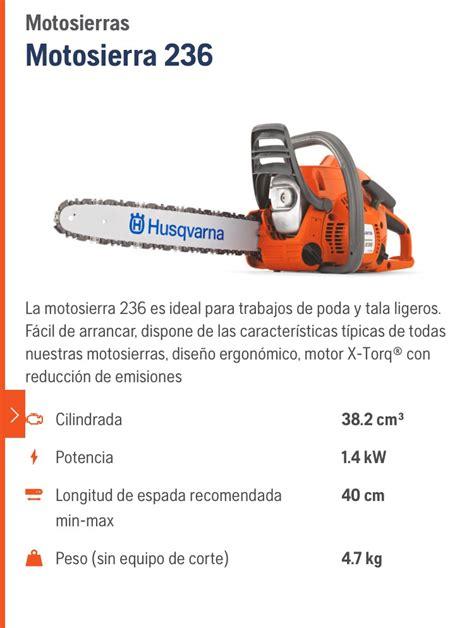 cadena para motosierra oregon 16 motosierra husqvarna 236 barra y cadena de 16 4 000
