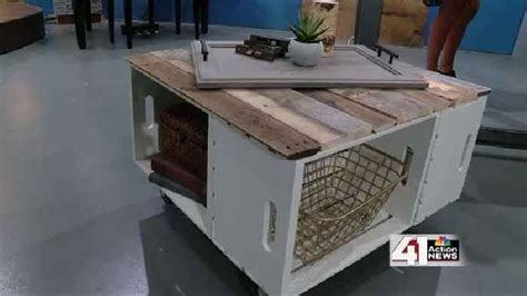 How To Build An Ottoman With Storage How To Make A Storage Ottoman From Wooden Crates One News Page