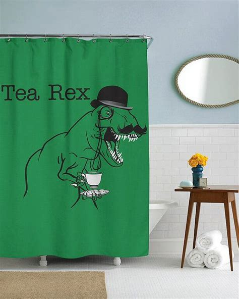 curtains for dorms tea rex dinosaur shower curtain in this house by