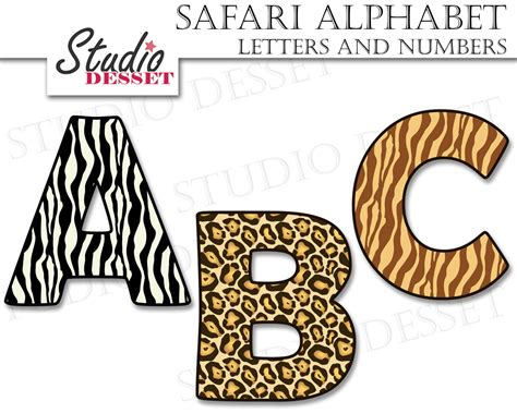 Letter And Number alphabet cliparts safari letters and numbers abc clipart