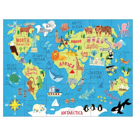 Puzzle Go map of the world puzzle to go mudpuppy