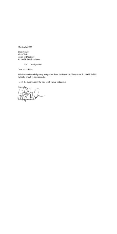 Committee Resignation Letter Sle by Board Of Directors Resignation Letter Template 28 Images Resignation Letter Sle Resignation