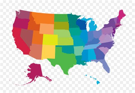 color map of united states united states vector map world map vector color map png