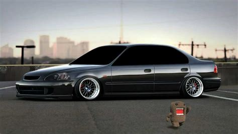 stanced honda stanced honda civic 6gen photoshop youtube
