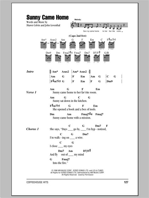 came home by shawn colvin guitar chords lyrics