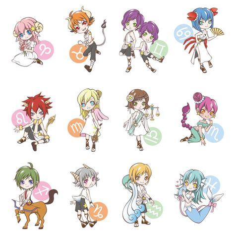 Anime Zodiac Signs by Chibi Zodiac Signs Chibi