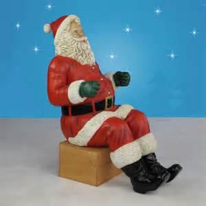 life sized santa sleigh two reindeer 11 w