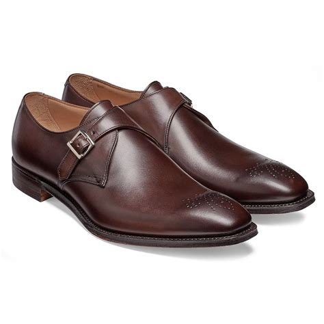 cheaney leeds burnished mocha monk shoe made in