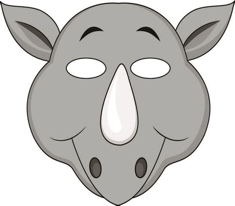 Mask clipart rhino   Pencil and in color mask clipart rhino