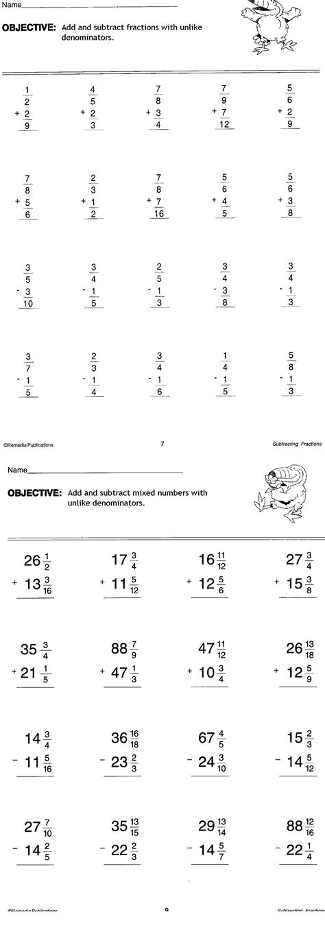 Fractions 7th Grade Worksheets by 3rd Hour Math Mr Tat S Math Zone