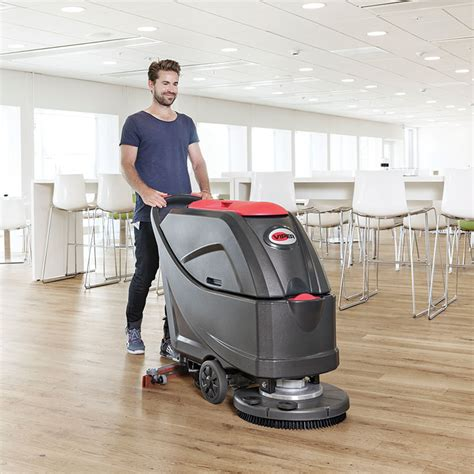 walk  automatic floor scrubber  batteries