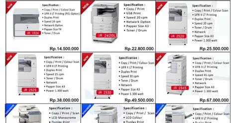 Harga Mesin Foto Copy teknisi fotocopy harga dan spesifikasi mesin fotocopy canon