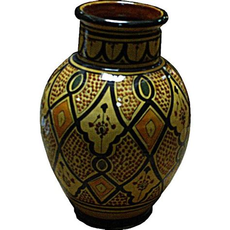 Moroccan Vases by Yellow Moroccan Ceramic Pottery Vase Of Safi Morocco
