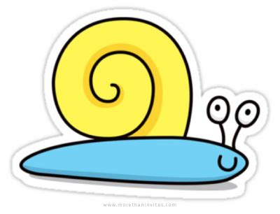 Cute cartoon snail sticker   More than invites