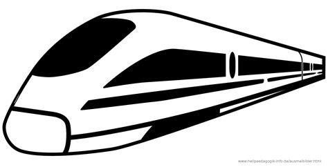 coloring page high speed train ausmalbilder eisenbahn