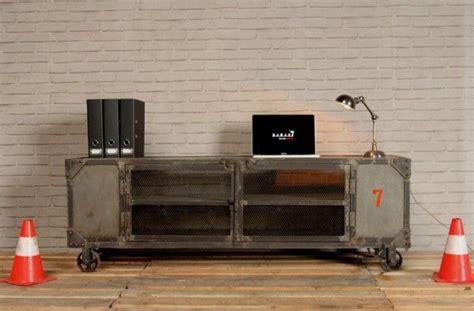 Etagere Industrielle 682 by Meuble Tv Industriel Naturel Meuble Industriel Par B A R