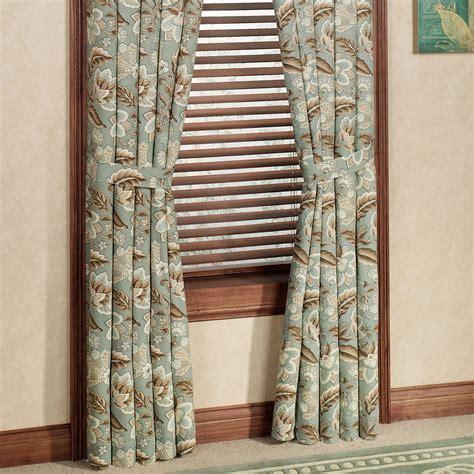 standard length of curtains valerie jacobean floral standard length window treatment