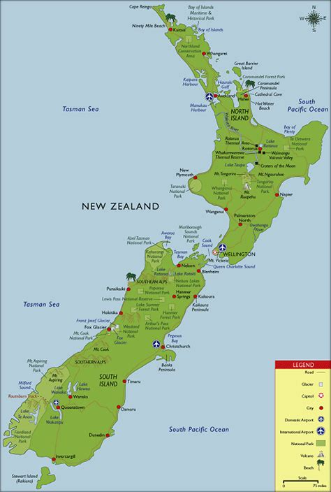 map new zealand new zealand map travel