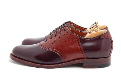 Saddle Shoes by Alden Saddle Shoes Color 8 Shell Cordovan Brown Alpine