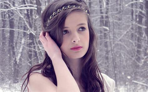 wallpaper girl winter girl in winter forest wallpapers girl in winter forest