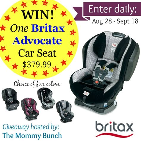 Britax Giveaway - britax advocate car seat giveaway 379 99 value