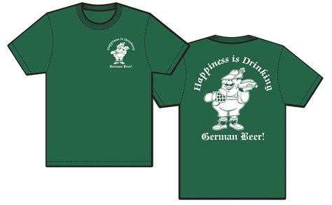 HAPPINESS IS DRINKING GERMAN BEER T Shirt