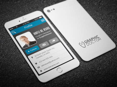 iphone style business card inspiration cardfaves
