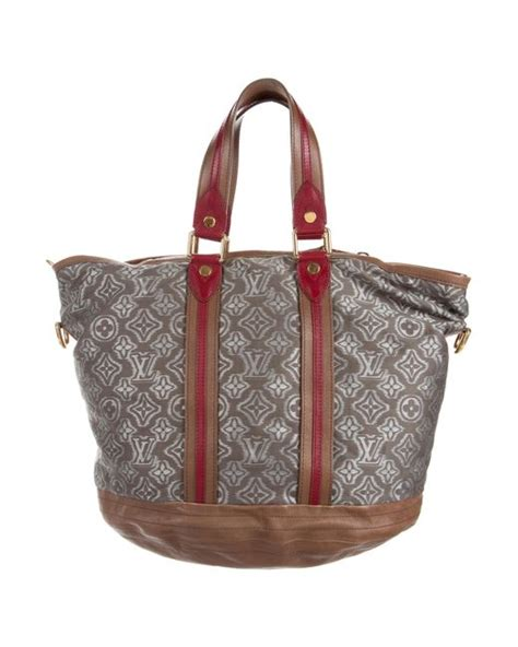 lyst louis vuitton monogram aviator bag grey  gray