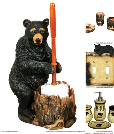 bear bathroom accessories cute black bear bathroom accessories for a rustic cabin