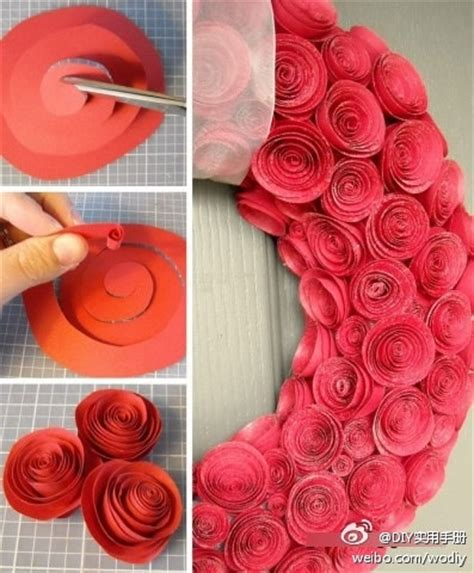 Easy Way To Make Paper Roses - easy way to make paper roses diy