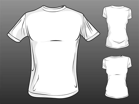 T Shirt Template Vector by Vector T Shirt Templates Free Vectors Ui