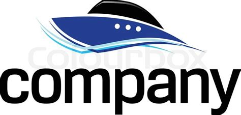 fast boat vector fast boat logo stock vector colourbox