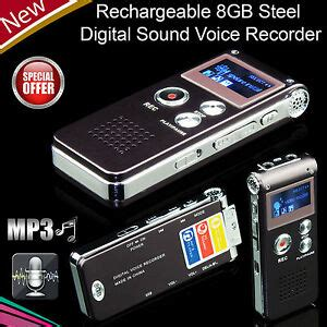 digital sound voice recorder 8gb rechargeable steel dictaphone mp3 player record ebay