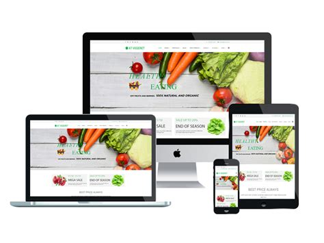 template joomla online store free at vegeret free organic food shop joomla template age