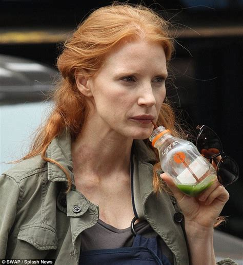 Dark Green Bedroom jessica chastain looks roughed up on the nyc set of the