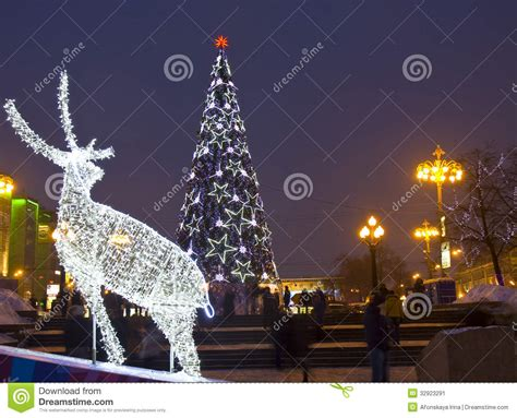 electric christmas trees whos idea was it electric deer and tree editorial photo image 32923291