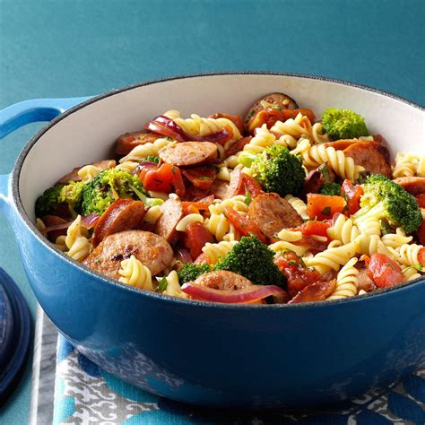 pasta broccoli sausage simmer recipe taste of home
