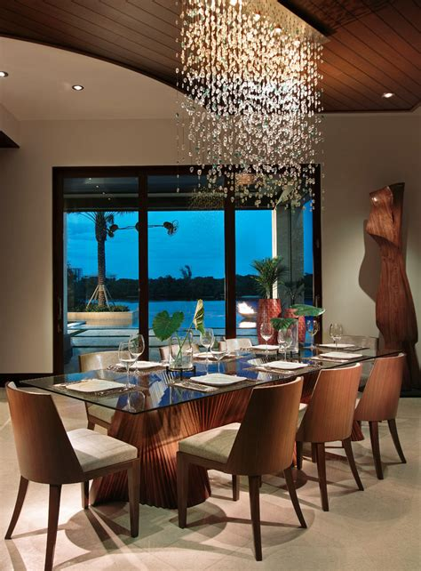 beautiful dining rooms  hanging lights