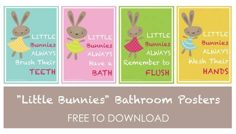 bathroom poster little bunnies bathroom posters free to download