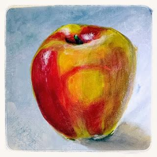 acrylic painting apple apple painting acrylic glazing daily sketches