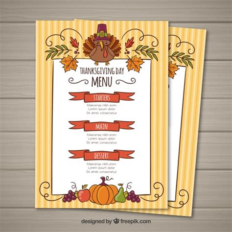 Thanksgiving Menu Template Vector Free Download Menu Template For Thanksgiving