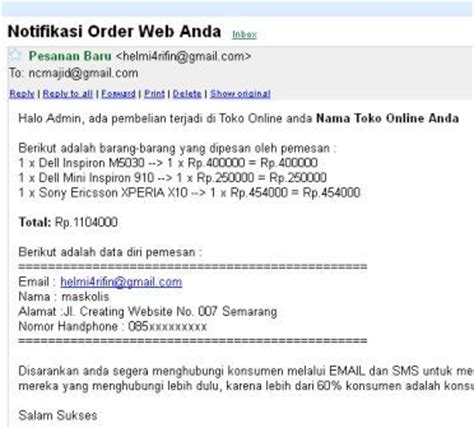template toko online invoice email 2 template toko online modifikasi dengan invoice email ch