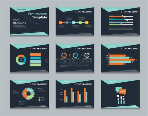 black infographic powerpoint template design backgrounds