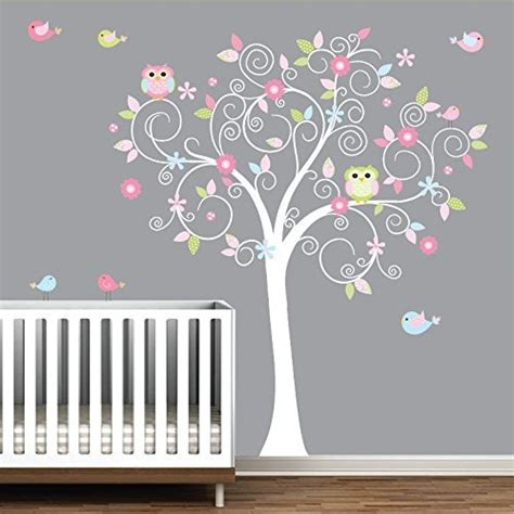 wall tree decals for nursery wall decal stunning white tree wall decal for nursery